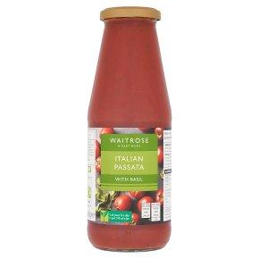 Waitrose passata with chopped basil