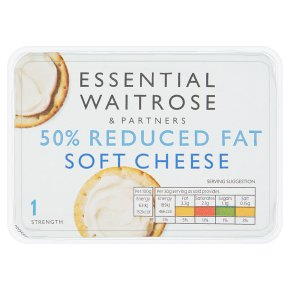 essential Waitrose reduced fat soft cheese