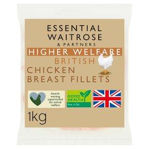 essential Waitrose British chicken breast fillets