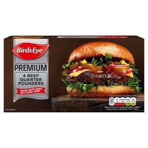 Birds Eye 4 Premium Quarter Pounder Burgers