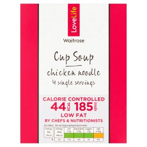 Waitrose LoveLife Calorie Controlled chicken noodle soup in a cup