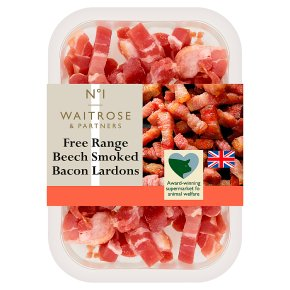 Waitrose 1 free range air dried beech smoked bacon lardons