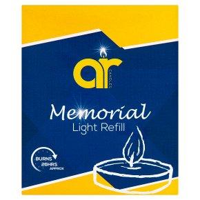 Memorial light refill