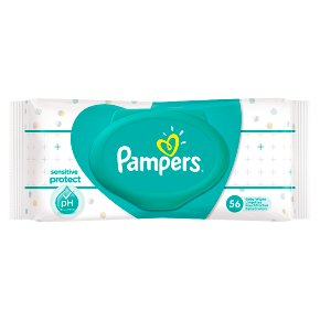 Pampers Sensitive Protect Baby Wipes Single Pack (56)