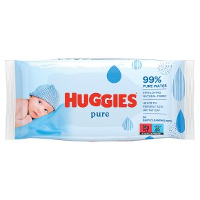 Huggies Pure Baby Wipes, Single pack
