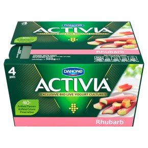 Activia rhubarb yogurts