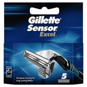Gillette Sensor Excel Razor Blades 5 count