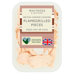 Waitrose British Cooked Chicken Flamegrilled Pieces