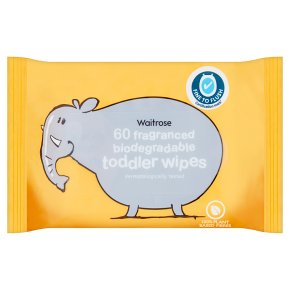 Waitrose toddler wipes, pack of 60