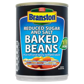 Branston baked beans, reduced suagar & salt