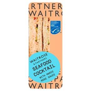 Waitrose MSC seafood cocktail sandwich