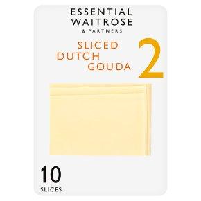 essential Waitrose Sliced Dutch Gouda 10 slices strength 2