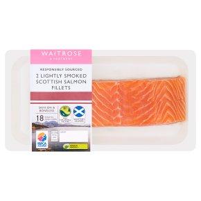 Waitrose Lightly Smoked Scottish Salmon Fillets