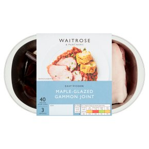 Waitrose Easy To Cook Gammon joint with a  sweet maple syrup glaze