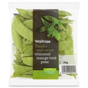 Waitrose trimmed mange tout peas