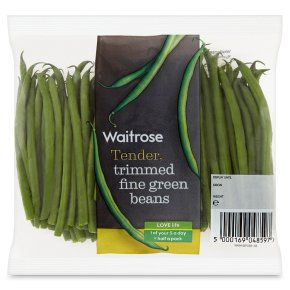 Waitrose trimmed fine green beans