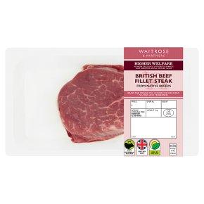 Waitrose extra trimmed British beef fillet steak