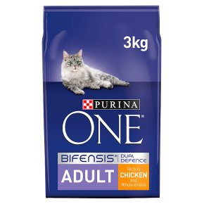 Purina ONE Adult Dry Cat Food Chicken and Wholegrains