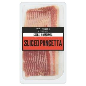 Waitrose Cooks' Ingredients Italian sliced pancetta, 10 slices