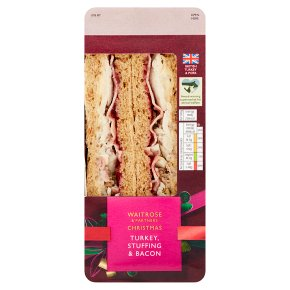 Waitrose Christmas edition turkey sandwich