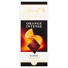 Lindt Excellence orange intense dark chocolate