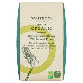 Waitrose Duchy Organic stoneground strong wholemeal bread flour