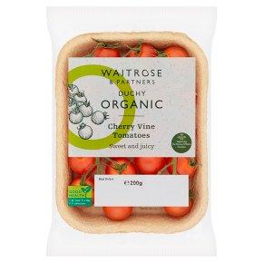 Waitrose Duchy Organic cherry vine tomatoes