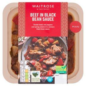 Waitrose beef in black bean sauce