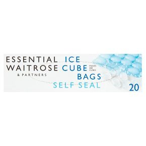 essential Waitrose self-sealing ice cube bags