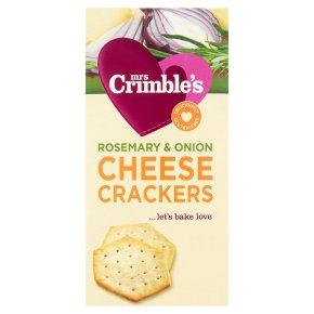 Mrs Crimble's rosemary & onion cheese crackers