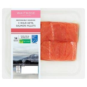 Waitrose 2 Wild Alaskan Keta Salmon Fillets