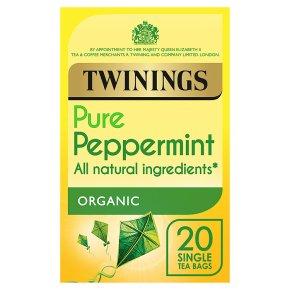Twinings organic peppermint 20 tea bags