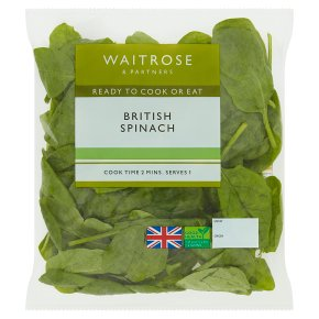 Waitrose ready-washed spinach