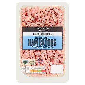 Waitrose Cooks' Ingredients smoked ham batons