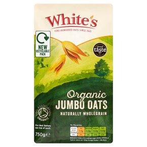 White's organic jumbo oat flakes