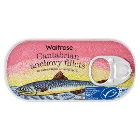 Waitrose MSC anchovy fillets in extra virgin olive oil