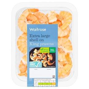 Waitrose extra large shell on king prawns