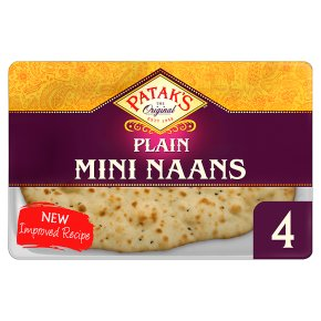 Patak's Plain Mini Naan Breads