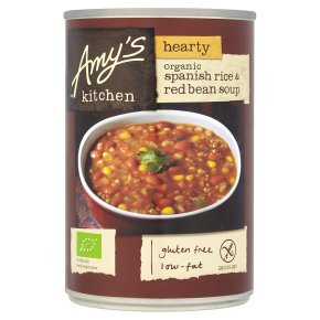 Amy's Kitchen hearty Spanish rice & red bean soup