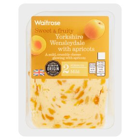 Waitrose Yorkshire mild Wensleydale cheese with apricot, strength 2