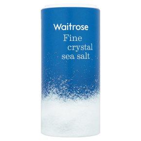 Waitrose fine crystal sea salt