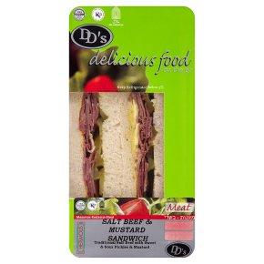 DD's salt beef & mustard sandwich