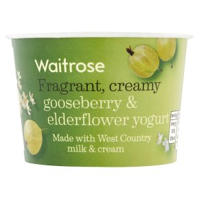 Waitrose Gooseberry & Elderflower yogurt