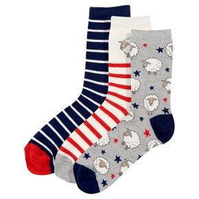 Waitrose Cotton Rich Sheep Ankle Socks
