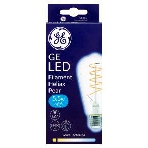 GE LED Filament Heliax Pear