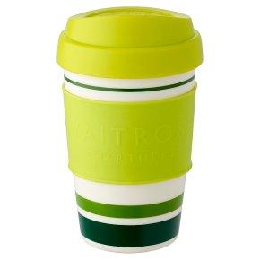 Waitrose Green Stripe Coffee Cup