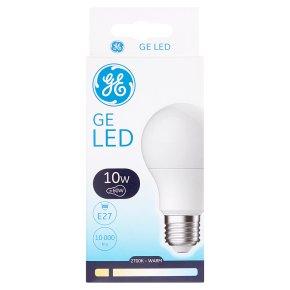 GE LED 810 Lumen Round 10W E27 ES