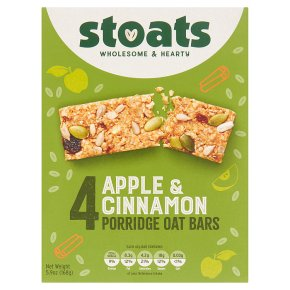 Stoats 4 Apple & Cinnamon Porridge Oat Bars
