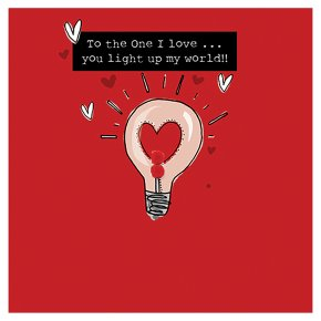 One I Love you light up my world