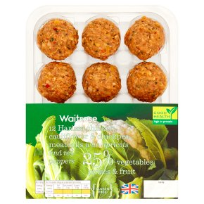 Waitrose 12 Harissa Chicken Meatballs